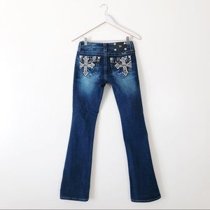 Miss Me Cross Signature Bootcut Jeans